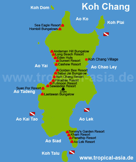 Map of Koh Chang